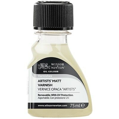 Winsor & Newton Artists' Oil Colour Paint Varnish Satin, Matt or Gloss 75ml