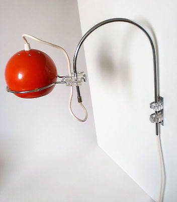 "70s Bogen Wand Leuchte ""Gepo"" space age wall arc lamp Lampe applique annees 70"