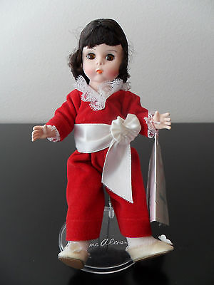 Vintage Madame Alexander 8 Inch Doll Red Boy 440 With Original Box ,tag & Stand