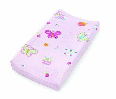 Summer Infant Ultra Plush Character Changing Pad Cover, Butterflies Ladybugs
