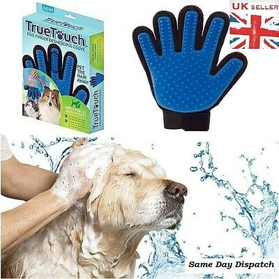 True Touch De-Shedding Glove Gentle & Efficient Pet Dog Cat Massage Uk Seller