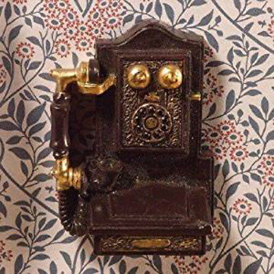 Dolls House Miniature 1:12th Scale Victorian Wall Hung Telephone