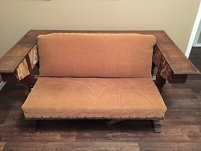 Antique The Settee Table by R. Hamp & Co. Wood Dining Table Converts Love Seat