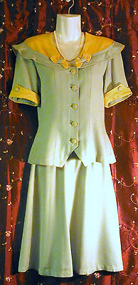 Vintage 40's 1940s WWll Gabardine Rockabilly Pin Up Quality Hill Suit