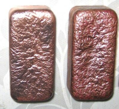 Two 10 oz Hand poured copper bullion bars