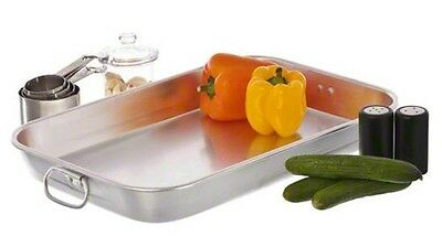 "Update International (ABP-1218) 18"" x 12"" Aluminum Bake Pan"