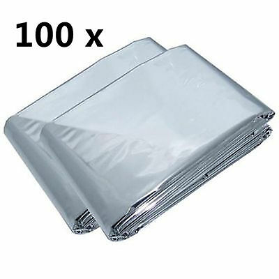 100 First Aid Survival Rescue Foil  Emergency Blanket Thermal Camping wholesale