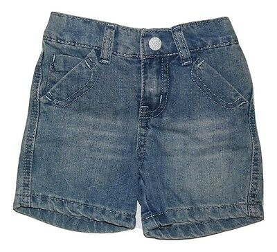 Bebe By Minihaha Baby Girl Boy Denim Shorts - Light Indigo Size 00 1