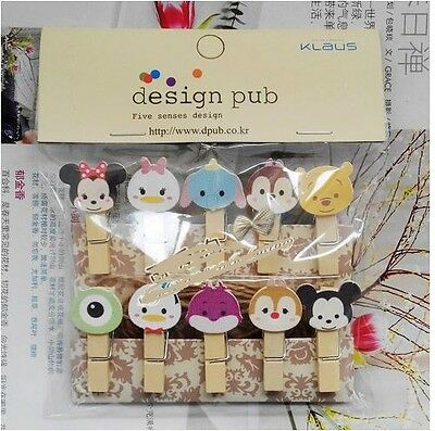 "20X Mini Wood Wooden Clip / Peg for Decoration Party Photo ""10 TSUM Character"""