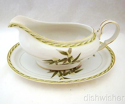 Aladdin BAMBOO Occupied Japan Gravy Set (Boat & Tray) EXCELLENT