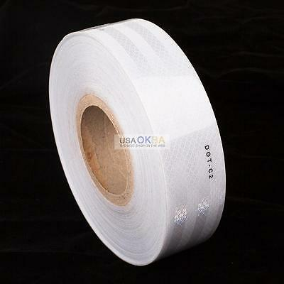 """Certified 2"""" x150' DOT-C2 Conspicuity Reflective Tape Truck Safety Warning White"""