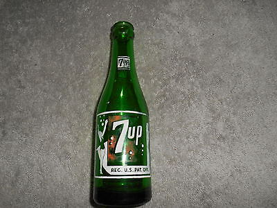 Vintage - 7 Up Bottle - 7Oz. Girl With Bathing Suit