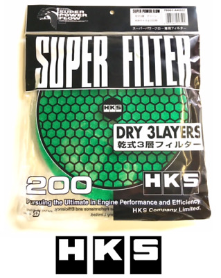 HKS Air Filter Super Power Flow - 200mm Replacement Element Mushroom GREEN