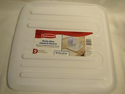 Rubbermaid Antimicrobial Small White Sloped Drain Board 14x15""