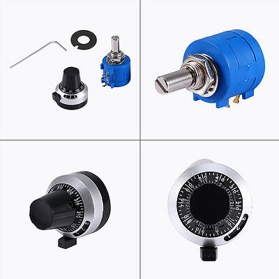 10K Ohm 3590S-2-103L Hot Potentiometer With 10 Turn Counting Dial Rotary Knob