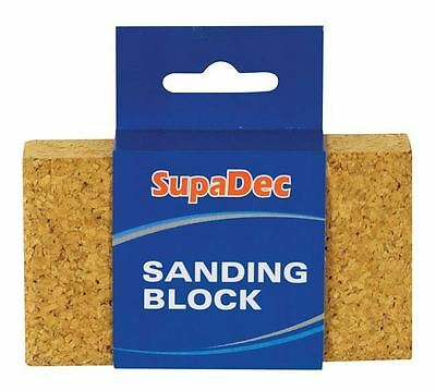 SupaDec Decorator Decorating Compressed Cork Sanding Block