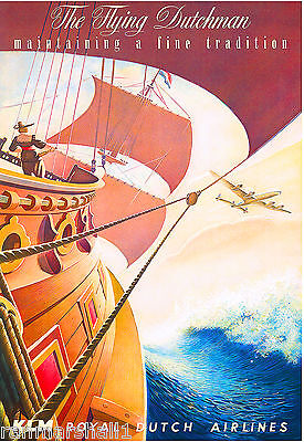 Holland Royal Dutchman Vintage Netherlands Travel Advertisement Art Poster