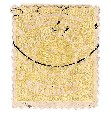 Luxembourg 1875-79 Used Scott 32 'Coat Of Arms' Stamp
