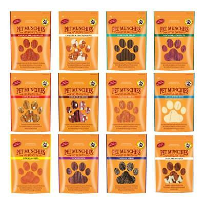 PET MUNCHIES 100% Natural Real Meat Healthy Dog Treats Rawhide Duck Beef Strips
