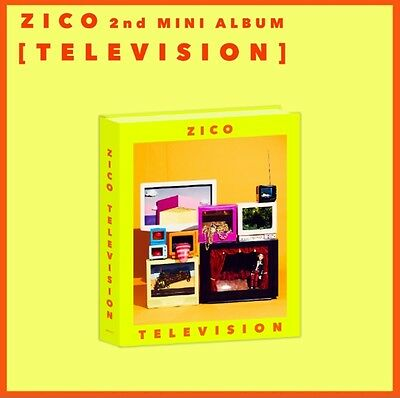 ZICO (BLOCK B) 2nd Mini Album [TELEVISION] CD+Card+Booklet+Sticker+Poster Toy