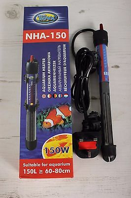 Aqua Nova 150w Fish Tank Heater Tropical Aquarium Coldwater Marine 150L Sump
