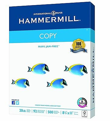 Hammermill Paper, Copy Poly Wrap, 20lb, 8.5 x 11, Letter, 92 Bright, 400 Sheets