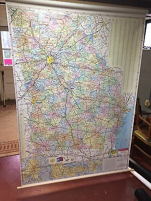 Rand McNally Georgia State School Pull Down Wall Map Atlanta