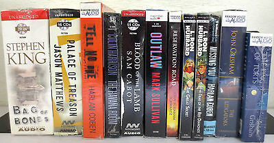 *New* Huge Lot CD Audio Books: King Matthews Coben Grisham Sullivan Hubbard etc