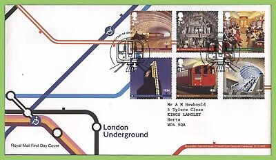 G.B. 2013 London Underground set on Royal Mail First Day Cover, London W2