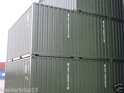 Shipping Containers 20 Foot New Build Green - 2017 Read Advert