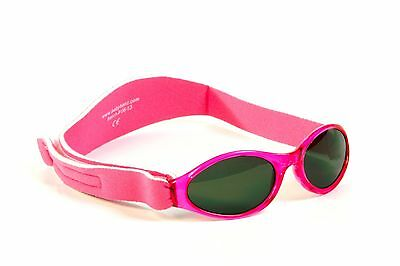 Babybanz sunglasses Pink 0 - 2 Y and Free Pink Hippo Glasses Case