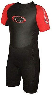 """RED BOYS GIRLS CHILD WETSUIT SHORTY 3-4 years CHILDRENS KID SHORTIE 22"""" chest"""