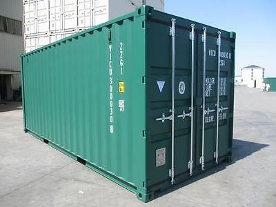 Shipping Containers 20 Ft Ral 6005 Green - 2017 Marchwood Depot Now