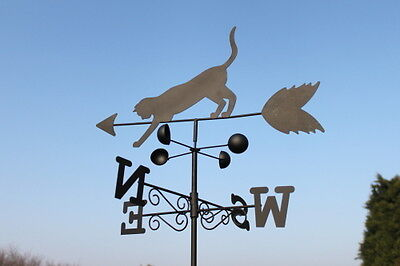 Weathervanes- Steel Cat and Mouse Weathervane- NOW REDUCED