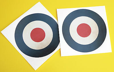 RC Aircraft Plane RAF LARGE SCALE ROUNDELS VINTAGE WORN stickers decal 145mm