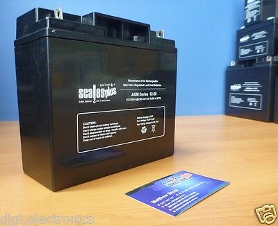 12V 20AH Rechargeable Valve Regulated Sealed Lead Acid Battery 20HR VRLA SLA AGM