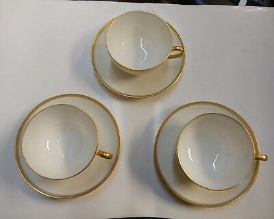 Haviland SCHLEIGER 1125 Cup and Saucer Set Three ~GREAT CONDITION