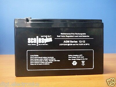 12V 12AH Rechargeable Valve Regulated Sealed Lead Acid Battery 20HR VRLA SLA AGM