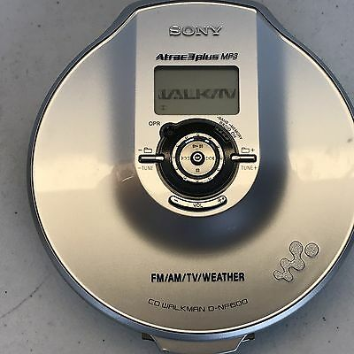 Sony D-NF600 ATRAC//MP3 CD Walkman Portable CD Player