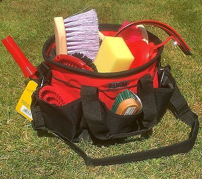 Horse Grooming Kit & Organiser Bag 14 Piece Deluxe  Kit & Bag *Great Gift*