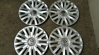 "61560 10-2014 15"" VW Volkswagen Golf Passat Jetta Hubcaps Set of 4 Wheel Covers"