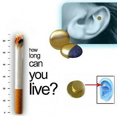 Quick Quit Smoking Ear Magnet Cigarette Magnetic ear Acupressure No Smoke Useful