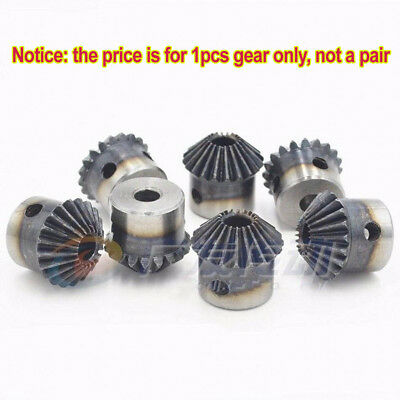 Bevel Gear 1.5 Mod 20T 90° Pairing Bore 6/6.35/8/10/12mm Metal Bevel Gear x 1Pcs