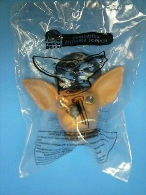 Taco Bell CHIHUAHUA Dog Antenna Topper ~ New in Package ~ Rare Fast Food Toy