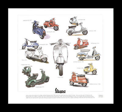 Vespa Supersprint 90 Douglas 150 Sportique Art  Print
