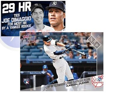 2017 Topps Now 327 Aaron Judge Rookie RC 29th HR Yankees