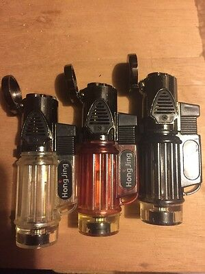 1 Windproof Triple Jet Torch Flame Butane Cigar Lighter VERY SIMILAR Jet Line