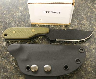 SHADOW TECH STTEBPGT Talon E Clip Point Fixed Blade Knife Textured G10  Scales