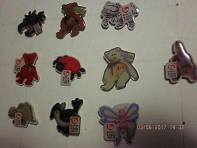 Vintage Lot of 10 McDonald's Employee Crew Ty Beanie Baby Lapel Pins #11