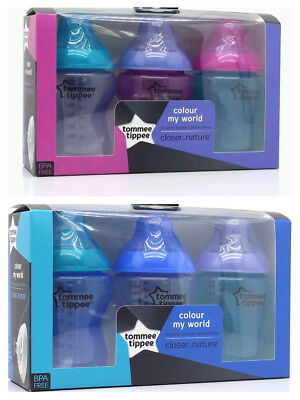 Tommee Tippee Colour my World 6 x 260ml Bottles